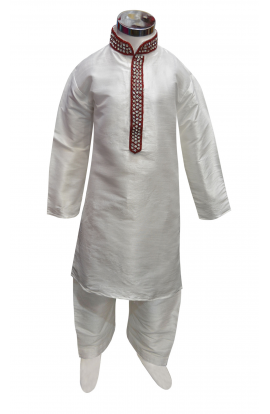 Boys Silk Kurta Set -846