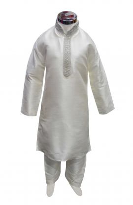 Boys Silk Kurta Set -848