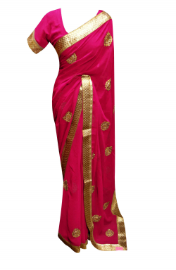 Fuchsia Wedding Saree - 7132
