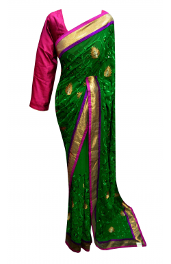 Green Indian  Saree - 7159