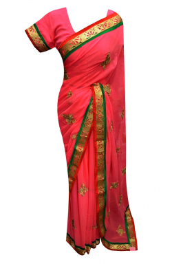 Crimson Saree - 7166