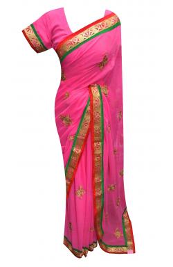 Pink Saree - 7170