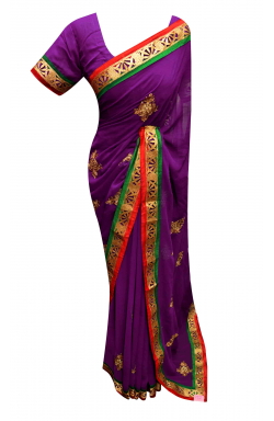 Purple Saree - 7171