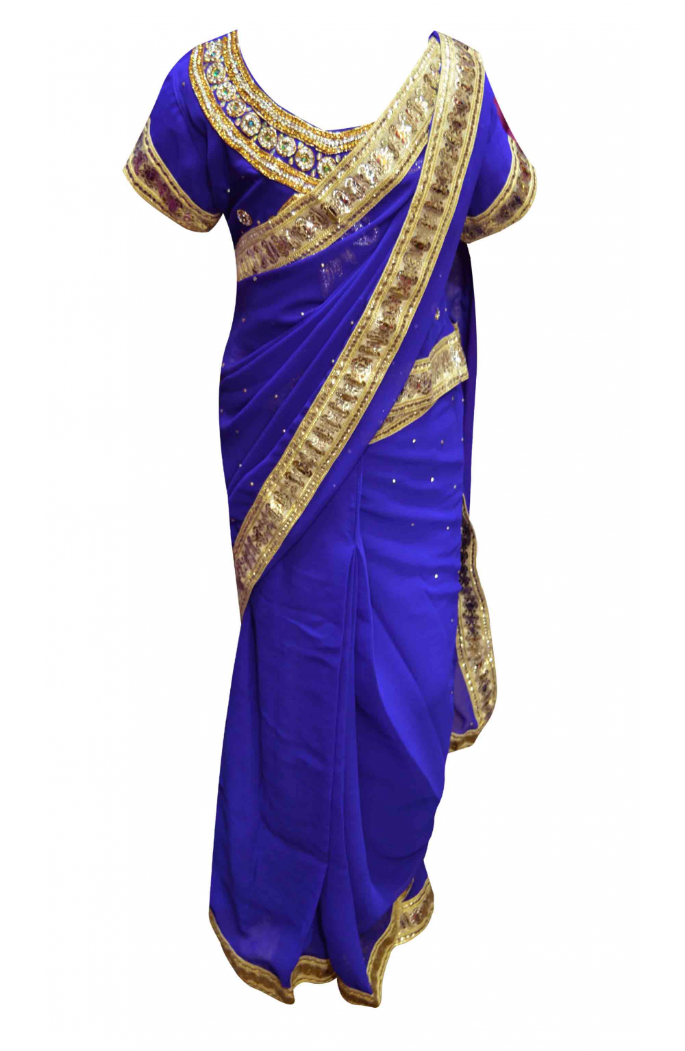 Kids Blue Saree - 1201