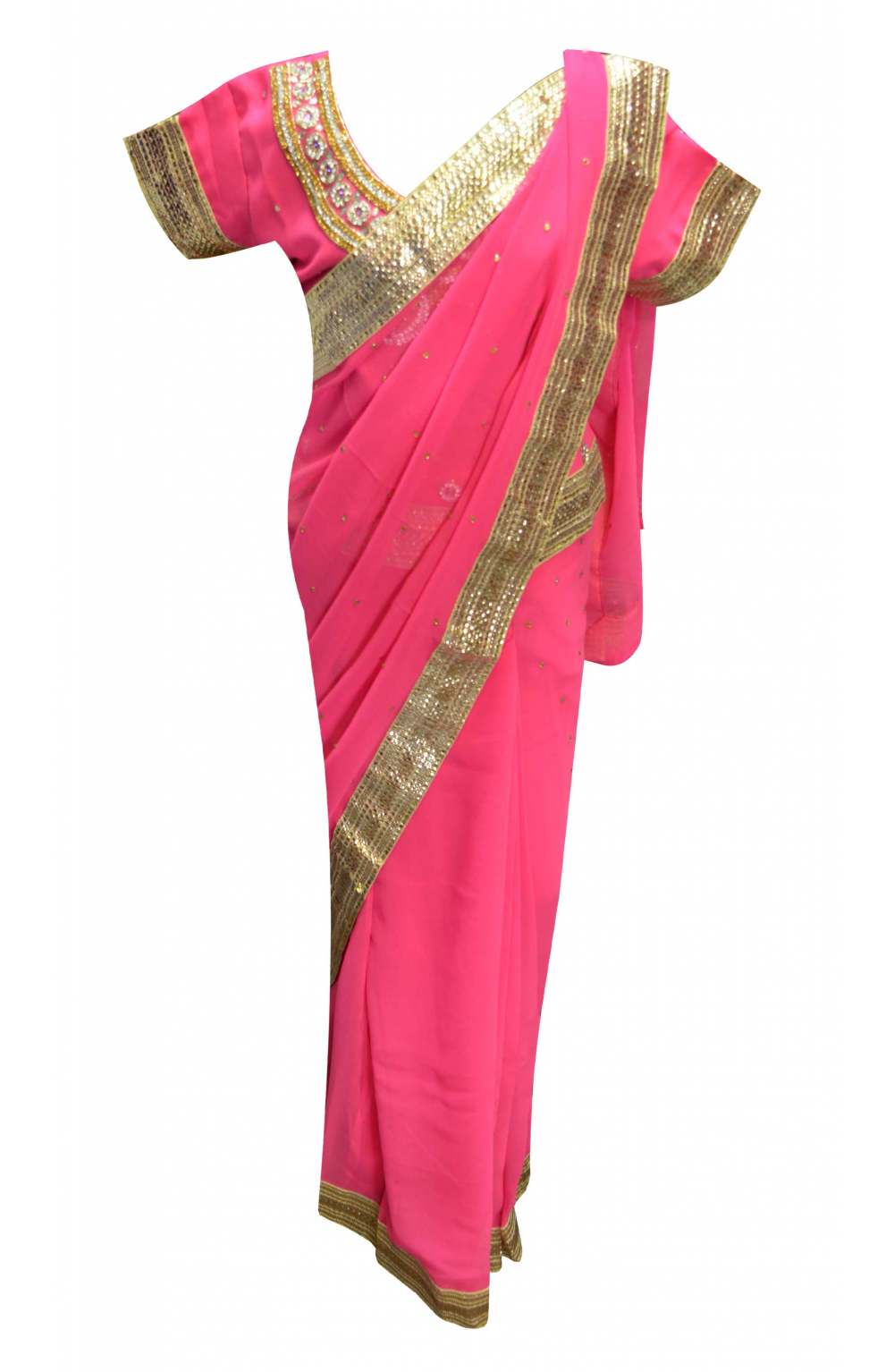 Pink Kids Saree - 1207
