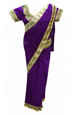Purple Kids Saree 1208