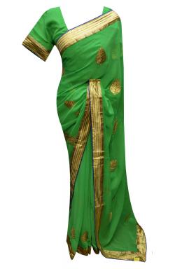 Green Saree - 7225
