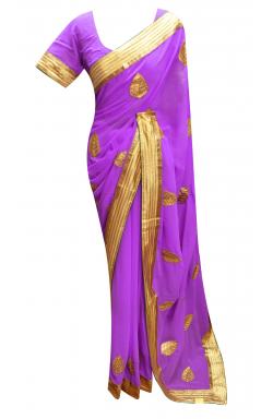 Lilac Saree - 7230