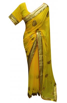 Yellow Saree - 7229