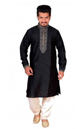 Black Kurta Churidar - 787