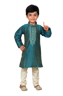 Teal Boys Sherwani -858