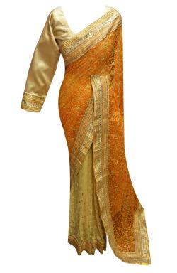 Indian net Saree - 7253