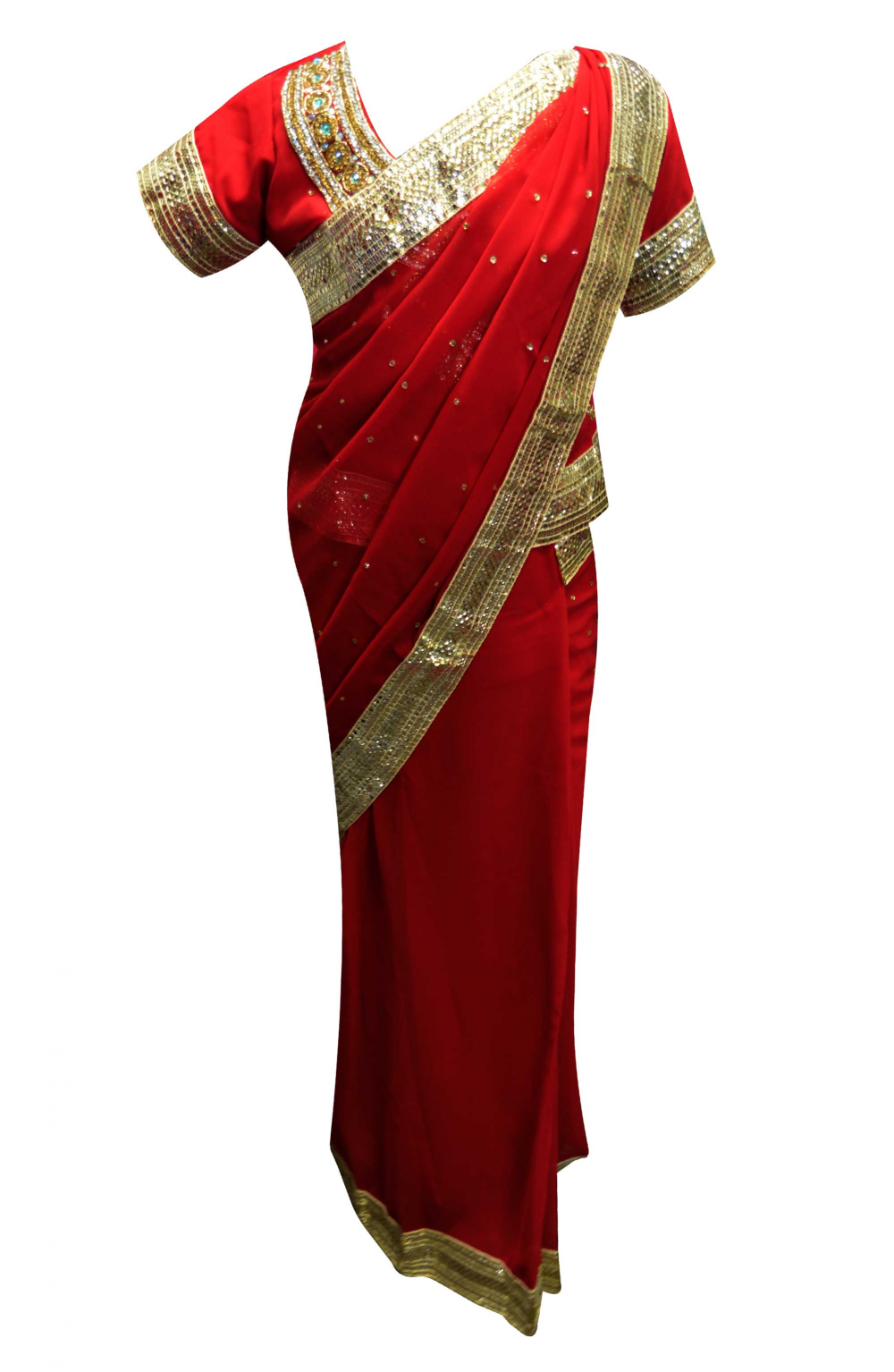 Kids Red Saree - 1210