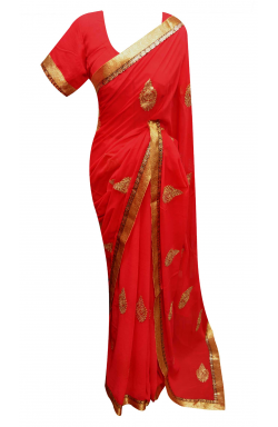 Red-Saree-7261