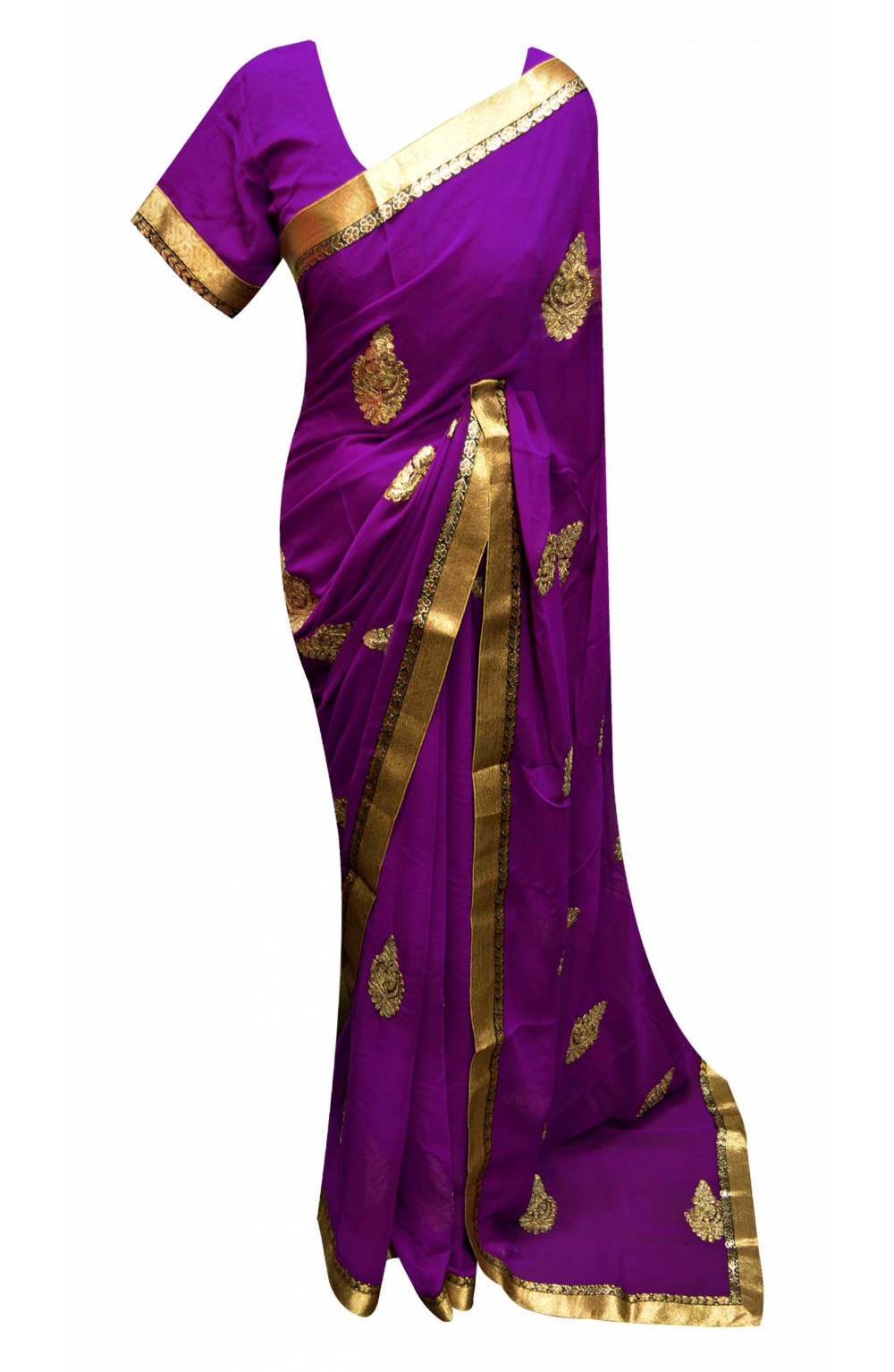 Purple Saree - 7264
