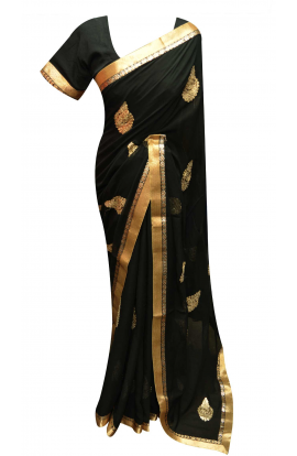 Black Saree - 7265