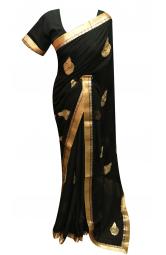 Black Saree - 7265
