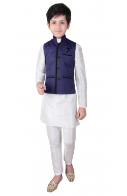 Navy Blue Waistcoat-005