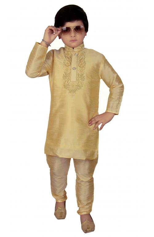 fff9f9fa5 Boys Indian Pakistani kurta with pajama in Raw Silk for EID ...