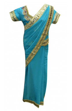 Turquoise Saree - 1205