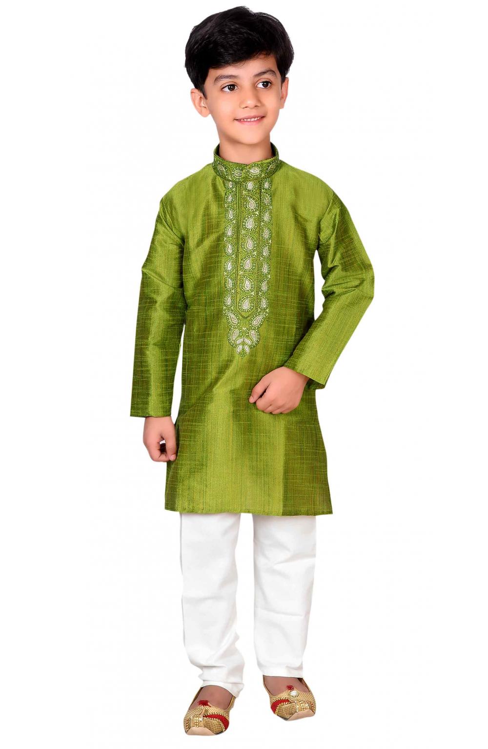 Indian Boys Sherwani Kurta With Churidar Pajama For Wedding