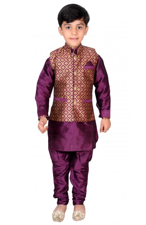 Boys Kurta Pyjama Waistcoat Bollywood Fancy Dress Mehendi Function Party EB 943